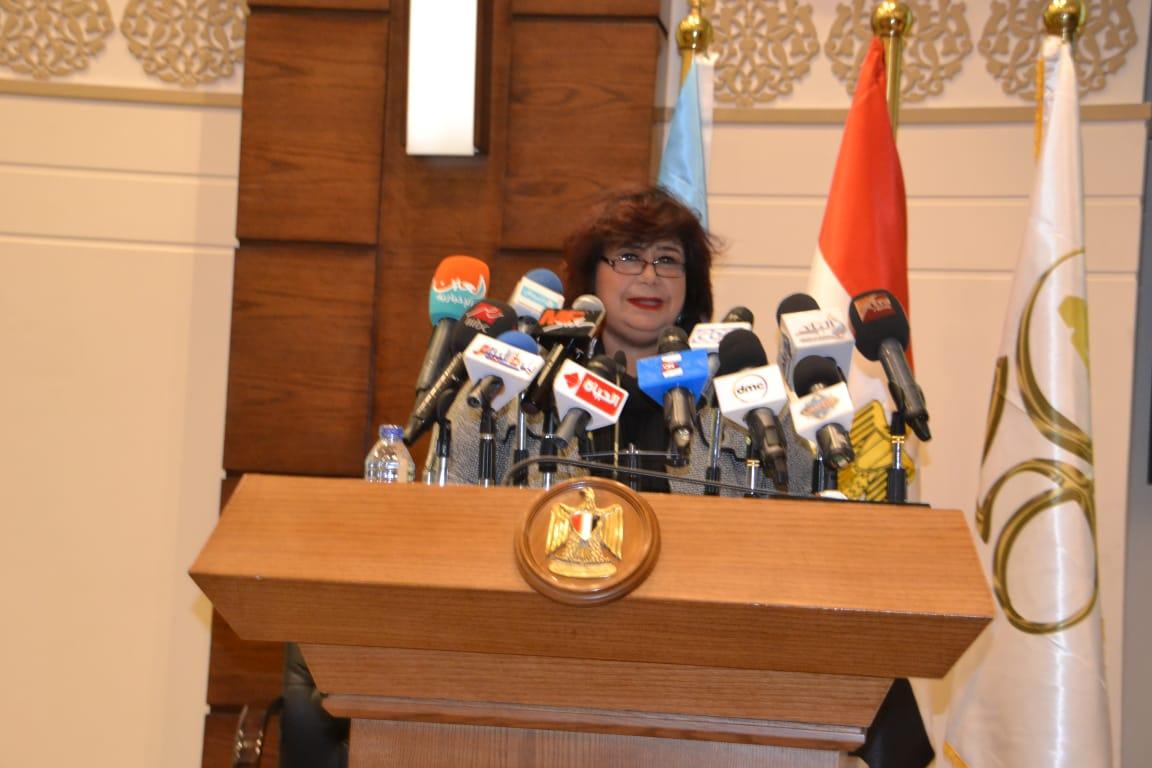 كلمة وزيرة الثقافة فى المؤتمر الصحفى الخاص باليوبيل الذهبى 1