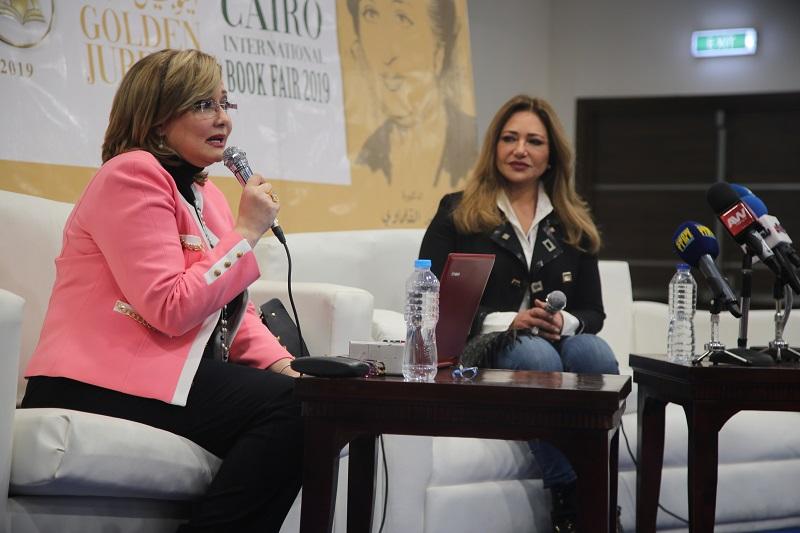 تكريم الفنانة ليلى علوى فى معرض القاهرة الدولى للكتاب بيوبيله الذهبى 3